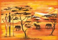 Бумага рисовая для декупажа «Африка»