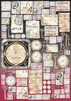 Большая карта для декупажа «Почтовые марки»