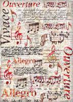 Большая карта для декупажа «Allegro»