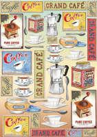 Большая карта для декупажа Кофе
