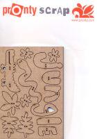 Аппликация вырубная для скрапбукинга «Джунгли» 465.645.008