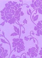 Бумага гофрированная крафт «Фиолетовые цветы»
