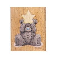Деревянный штамп «Золотая звезда»