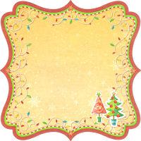 Бумага фигурная односторонняя «Новогодняя» PSF(190)009
