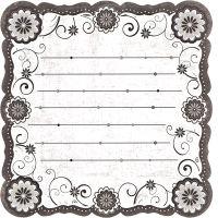 Бумага фигурная односторонняя «Черно-белая» PSL(190)044