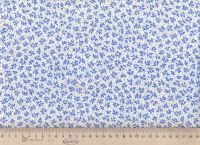 Ткань для пэчворка »Голубые веточки»