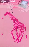 Трафарет жирафа