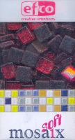Декоративная стеклянная мозаика с блестками красная