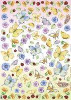 Большая карта для декупажа «Бабочки»