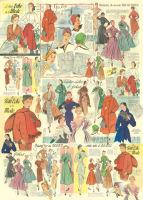 Большая карта для декупажа «Мода. Ретро.»