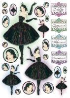 Большая карта для декупажа «Балерина»