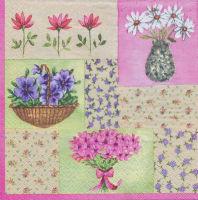 Салфетка для декупажа «Цветы и ситец»