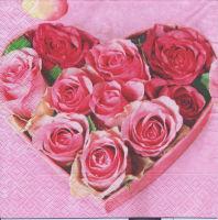 Салфетка для декупажа «Коробочка с розами»