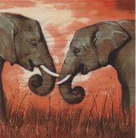 Салфетка для декупажа «Слоны»