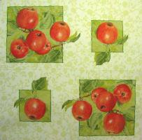 Салфетка для декупажа «Красные яблоки»