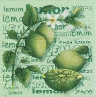 Салфетка для декупажа «Зеленый лимон»