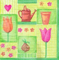 Салфетка для декупажа «Тюльпаны»
