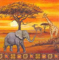 Салфетка для декупажа «Африка»