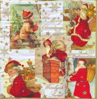 Салфетка для декупажа «Санта Клаус. Коллаж.»