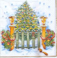Салфетка для декупажа «Рождество у порога»