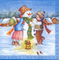 Салфетка для декупажа «Снеговичок»