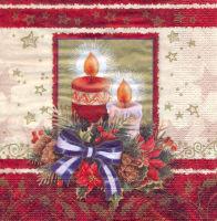 Салфетка для декупажа «Две свечи»