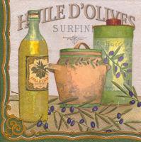 Салфетка для декупажа «Оливковое масло»