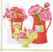 Салфетка для декупажа «Анемоны и пионы»
