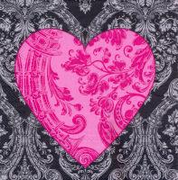 Салфетка для декупажа «Сердце на черном»