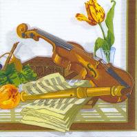 Салфетка для декупажа «Музыкальные инструменты»