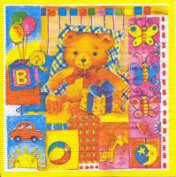 Салфетка для декупажа «Любимые игрушки»