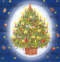 Салфетка для декупажа «Рождественская мелодия 2»