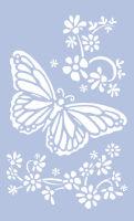 Трафарет для стен «Цветы и бабочка»