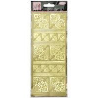 Наклейки Золотые уголки фольгированные