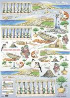 Большая карта для декупажа «Полдень у моря»