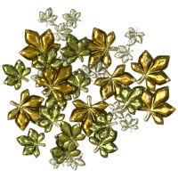 Пришивные стразы «Листья»
