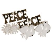 Набор пуговиц «Голуби мира»