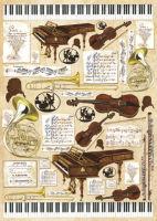 Большая карта для декупажа «Музыка»