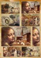 Большая карта для декупажа «Lucia»