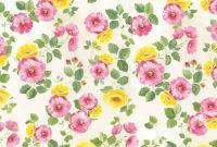 Бумага рисовая для декупажа «Розовые и желтые цветы»