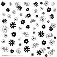 Лист пластиковый для скрапбукинга Цветы