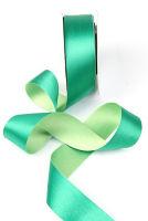 Лента шелковая биколор «Оттенки зеленого»