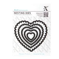 Набор ножей для вырубки «Сердце с фестонами»