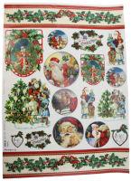Большая карта для декупажа «Рождество на пороге»
