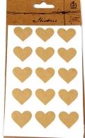 Наклейка крафт Сердце