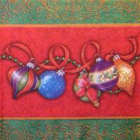 Салфетка для декупажа  «Ёлочные шары»