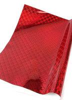 Кардсток односторонний «Голография» красный