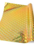 Кардсток односторонний «Голография» золотой