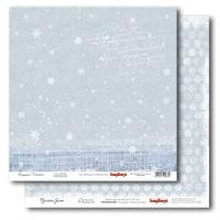 Бумага для скрапбукинга «Русская зима. Снежинки»