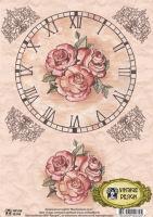 Декупажная карта «Винтажная роза»